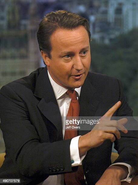 Tory leader David Cameron during the recording of the BBC current affairs programme 'Sunday AM' with Andrew Marr Sunday 1st October
