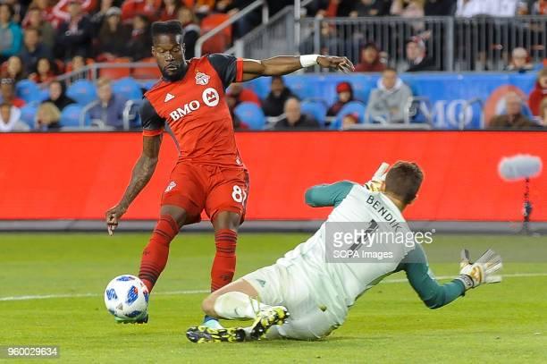 BMO FIELD TORONTO ONTARIO CANADA Tosaint Ricketts seen during 2018 MLS Regular Season match between Toronto FC and Orlando City SC at BMO Field
