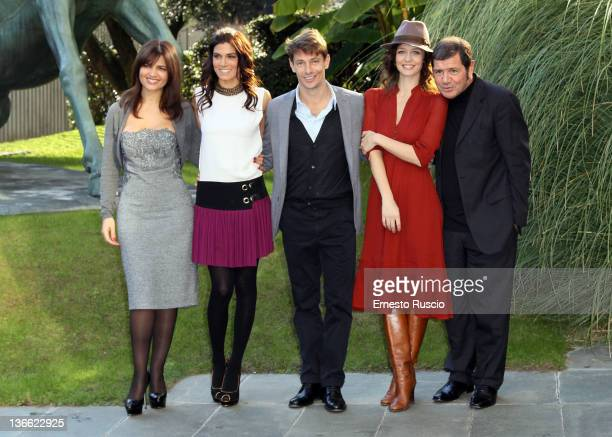 Tosca D'Aquino Valeria Solarino Giorgio Pasotti Francesca Cavallin and Giorgio Gobbi attend the Anita photocall at RAI Viale Mazzini on January 9...