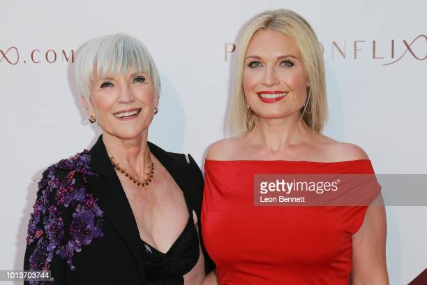 Tosca Musk and Maye Musk attends the Premiere For Passionflix's Driven at Raleigh Studios on August 8 2018 in Los Angeles California