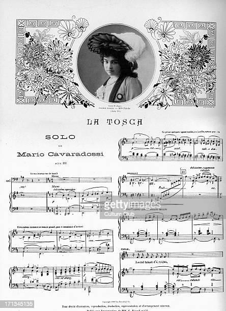 'Tosca' 'Tosca', opera by Giacomo Puccini, with libretto by Luigi Illica and Giuseppe Giacosa, performed at Theatre National de l'opera comique,...