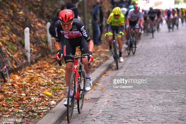 Tosh Van Der Sande of Belgium and Team Lotto Soudal / Cobblestones / during the 60th Brabantse Pijl 2020, Men Elite a 197km race from Leuven to...