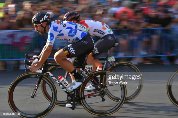 Tosh Van Der Sande of Belgium and Team Lotto Soudal / Thomas De Gendt of Belgium and Team Lotto Soudal Polka Dot Mountain Jersey / during the 73rd...