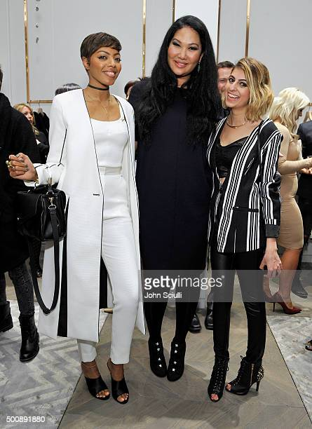 Tosha Eason Kimora Lee Simmons and Elaine Daneshrad attend the opening of Kimora Lee Simmons' Beverly Hills boutique with W Magazine on December 10...