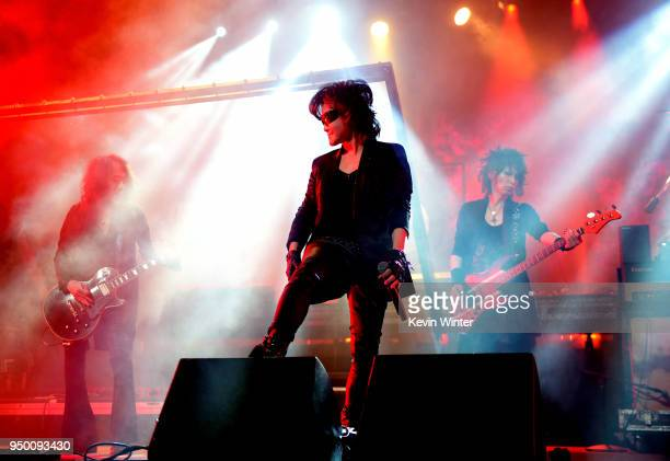 Toshi of X Japan performs onstage during the 2018 Coachella Valley Music And Arts Festival at the Empire Polo Field on April 21 2018 in Indio...