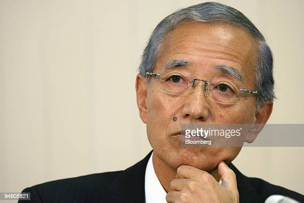 Toshiba Ceramics Co. President Susumu Kouyama speaks during a news conference in Tokyo, Japan, on Tuesday, October 31, 2006. Carlyle Group and Unison...