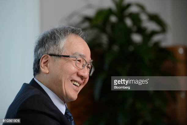 Toshio Tokura president and chief executive officer of Citizen Watch Co speaks during an interview in Tokyo Japan on Thursday Jan 25 2018 Citizen is...