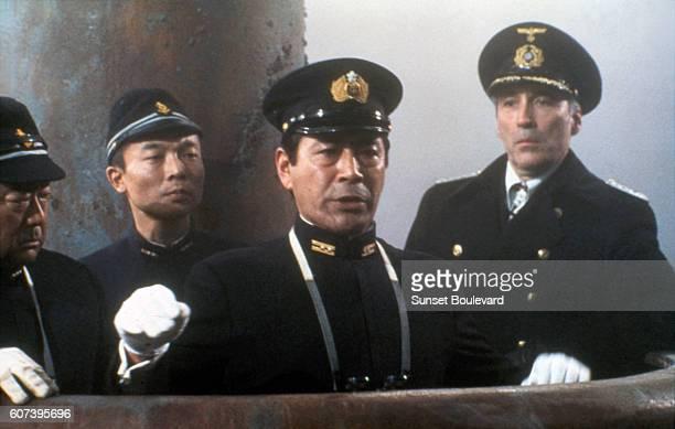 Toshiro Mifume and Christopher Lee on the set of 1941