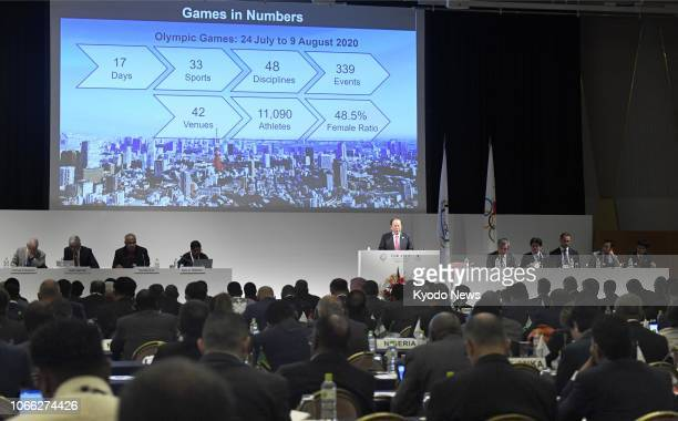 Toshiro Muto director general of the organizing committee of the 2020 Tokyo Olympics and Paralympics speaks in Tokyo on Nov 29 at the General...