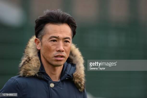 Toshiya Fujita from the Japanese Football Association during the Newcastle United Training Session at the Newcastle United Training Centre on...