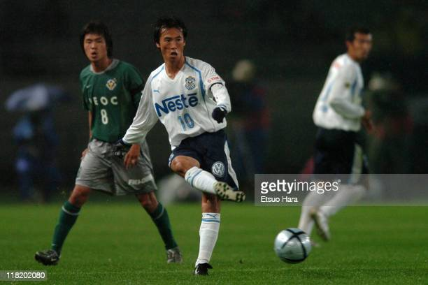 Toshiya Fujita of Jubilo Iwata in action during the JLeague Division 1 second stage match between Tokyo Verdy 1969 and Jubilo Iwata at Ajinomoto...