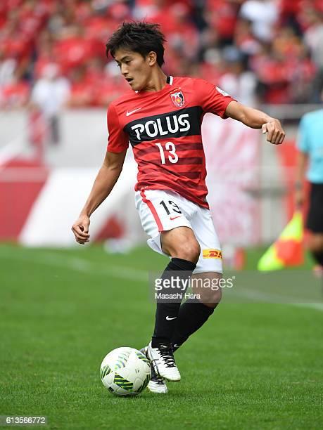 Toshiyuki Takagi of Urawa Red Diamonds in action during the JLeague Levain Cup semi final second leg match between Urawa Red Diamonds and FC Tokyo at...