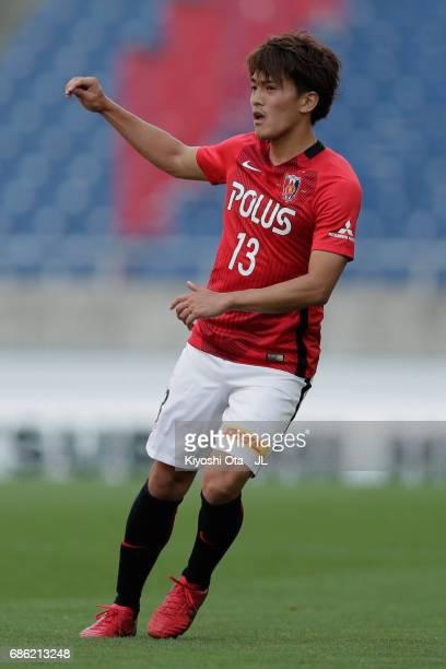 Toshiyuki Takagi of Urawa Red Diamonds in action during the JLeague J1 match between Urawa Red Diamonds and Shimizu SPulse at Saitama Stadium on May...
