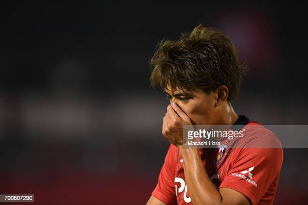 Toshiyuki Takagi of Urawa Red Diamonds looks on during the 97th Emperor's Cup second round match between Urawa Red Diamonds and Gurlla Morioka at...
