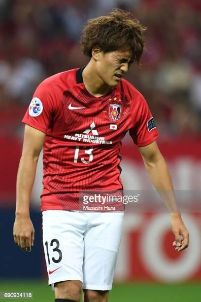 Toshiyuki Takagi of Urawa Red Diamonds looks on during the AFC Champions League Round of 16 match between Urawa Red Diamonds and Jeju United FC at...