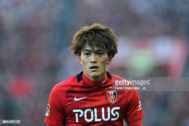 Toshiyuki Takagi of Urawa Red Diamonds looks on during the JLeague J1 match between Urawa Red Diamonds and Yokohama FMarinos at Saitama Stadium on...