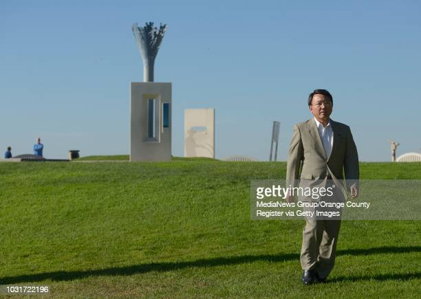 Toshiyuki Tanaka, mayor of Yokkaichi, Japan, visits Hilltop Park in Signal Hill on Tuesday. Tanaka, who just arrived from Japan, stopped at the park...