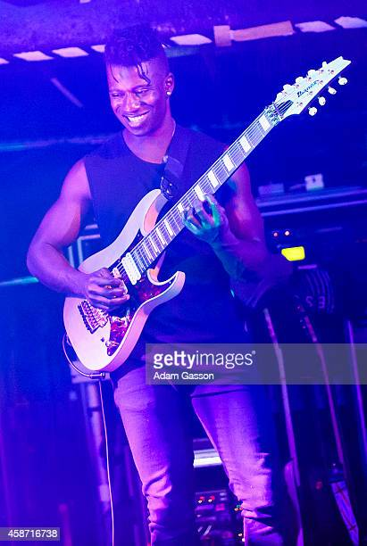 Tosin Abasi from Animals as Leaders performs on stage at The Thekla on November 9, 2014 in Bristol, United Kingdom.