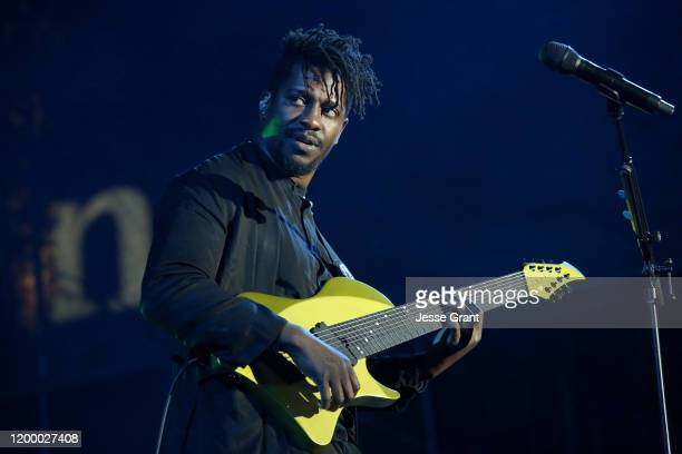 Tosin Abasi of Animals as Leaders performs at The 2020 NAMM Show Opening Day on January 16, 2020 in Anaheim, California.