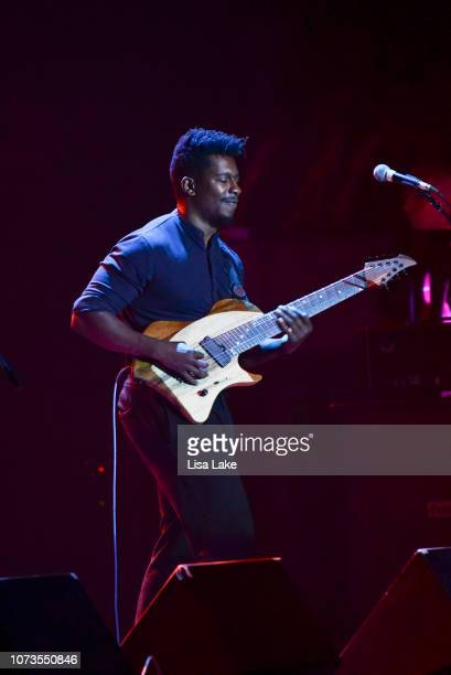 Tosin Abasi performs during the Generation Axe tour at Sands Bethlehem Event Center on November 27, 2018 in Bethlehem, Pennsylvania.