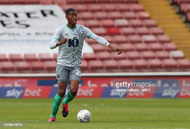 Tosin Adarabioyo of Blackburn Rovers controls the ball during the Sky Bet Championship match between Barnsley and Blackburn Rovers at Oakwell Stadium...