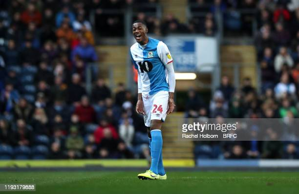 Tosin Adarabioyo of Blackburn Rovers during the Sky Bet Championship match between Blackburn Rovers and Preston North End at Ewood Park on January...