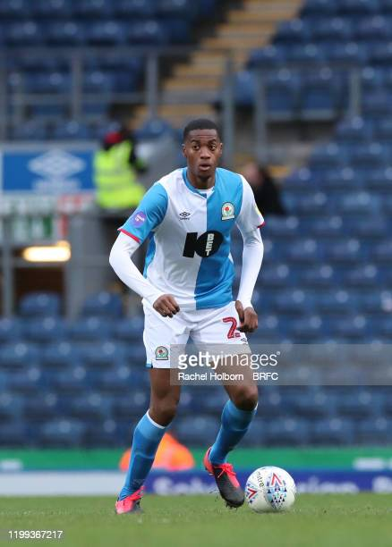 Tosin Adarabioyo of Blackburn Rovers during the Sky Bet Championship match between Blackburn Rovers and Fulham at Ewood Park on February 8, 2020 in...