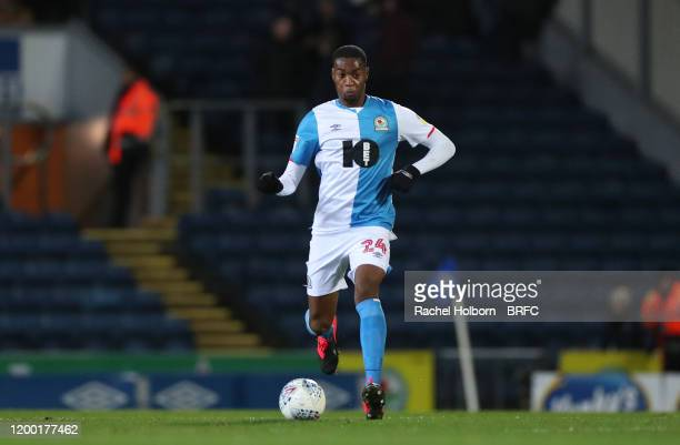Tosin Adarabioyo of Blackburn Rovers during the Sky Bet Championship match between Blackburn Rovers and Hull City at Ewood Park on February 11, 2020...