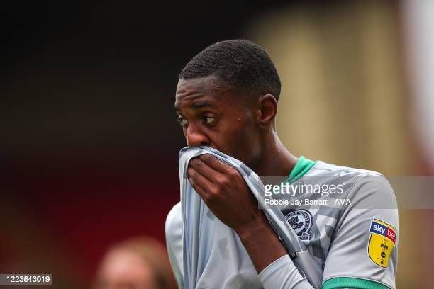Tosin Adarabioyo of Blackburn Rovers during the Sky Bet Championship match between Barnsley and Blackburn Rovers at Oakwell Stadium on June 30, 2020...