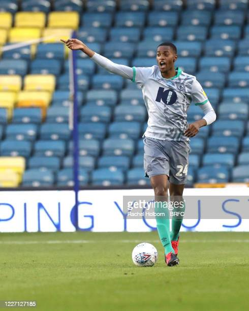 Tosin Adarabioyo of Blackburn Rovers during the Sky Bet Championship match between Millwall and Blackburn Rovers at The Den on July 14, 2020 in...