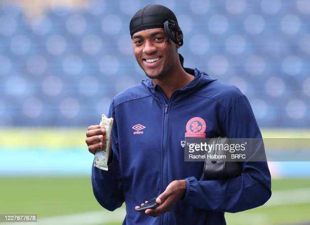 Tosin Adarabioyo of Blackburn Rovers during the Sky Bet Championship match between Blackburn Rovers and Reading at Ewood Park on July 18, 2020 in...