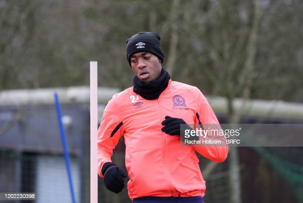 Tosin Adarabioyo of Blackburn Rovers during todays training session at the Senior Training Centre on February 21, 2020 in Blackburn, England.