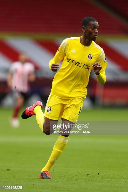 Tosin Adarabioyo of Fulham during the Premier League match between Sheffield United and Fulham at Bramall Lane on October 18, 2020 in Sheffield,...