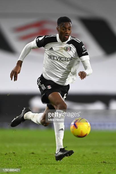 Tosin Adarabioyo of Fulham in action during the Premier League match between Fulham and Brighton & Hove Albion at Craven Cottage on December 16, 2020...