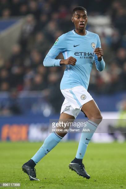 Tosin Adarabioyo of Manchester City during the Carabao Cup Quarter-Final match between here Leicester City v Manchester City at The King Power...