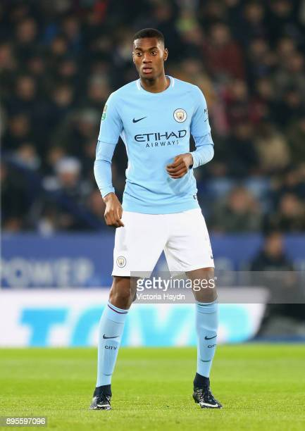 Tosin Adarabioyo of Manchester City looks on during the Carabao Cup Quarter-Final match between Arsenal and West Ham United at Emirates Stadium on...