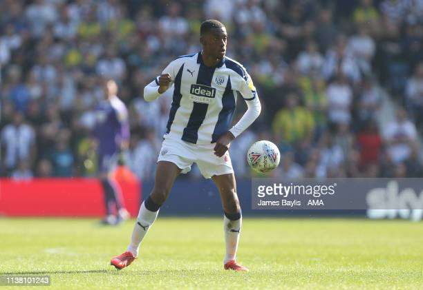 Tosin Adarabioyo of West Bromwich Albion during the Sky Bet Championship match between West Bromwich Albion and Hull City at The Hawthorns on April...