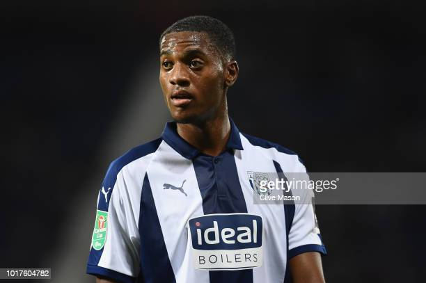 Tosin Adarabioyo of West Bromwich Albion in action during the Carabao Cup First Round match between West Bromwich Albion and Luton Town at The...