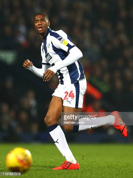 Tosin Adarabioyo of West Bromwich Albion in action during the Sky Bet Championship match between West Bromwich Albion and Sheffield United at The...