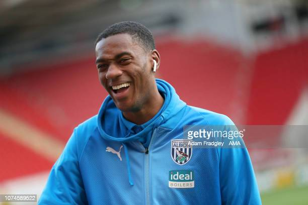Tosin Adarabioyo of West Bromwich Albion inspects the pitch after he arrives at the stadium during the Sky Bet Championship match between Rotherham...