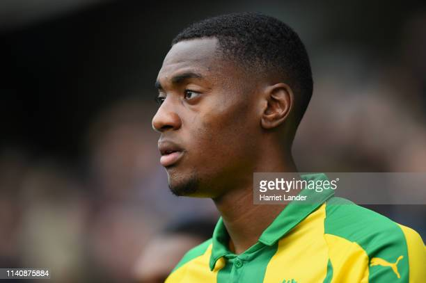 Tosin Adarabioyo of West Bromwich Albion looks on prior to the Sky Bet Championship match between Millwall and West Bromwich Albion at The Den on...