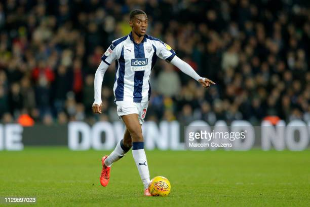 Tosin Adarabioyo of West Bromwich Albion runs with the ball during the Sky Bet Championship game between West Bromwich Albion and Nottingham Forest...