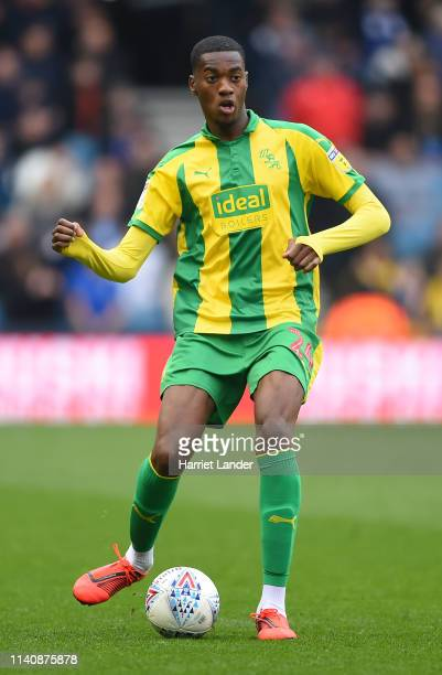 Tosin Adarabioyo of West Bromwich Albion runs with the ball during the Sky Bet Championship match between Millwall and West Bromwich Albion at The...