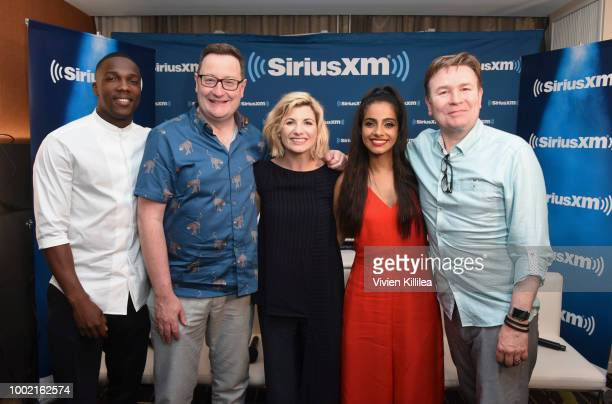 Tosin Cole Chris Chibnall Jodie Whittaker Mandip Gill and Matt Strevens attend SiriusXM's Entertainment Weekly Radio Broadcasts Live From Comic Con...