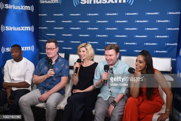 Tosin Cole Chris Chibnall Jodie Whittaker Matt Strevens and Mandip Gill attend SiriusXM's Entertainment Weekly Radio Broadcasts Live From Comic Con...