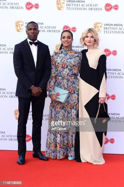 Tosin Cole Mandip Gill and Jodie Whittaker attend the Virgin Media British Academy Television Awards 2019 at The Royal Festival Hall on May 12 2019...