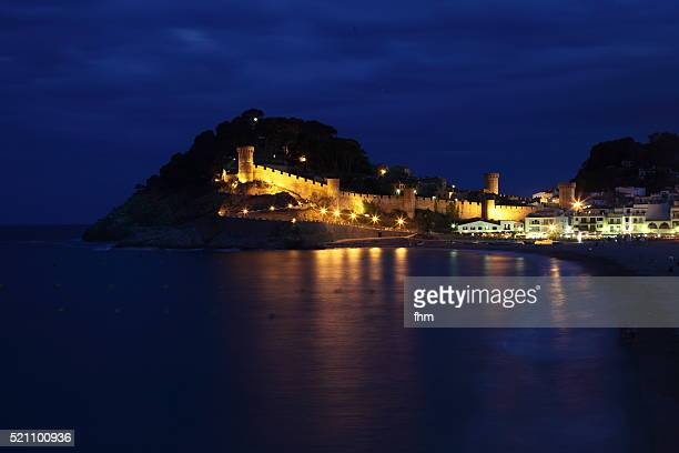 Tossa de Mar - Catalonia/ Spain. Walled-in-old-town at blue hour