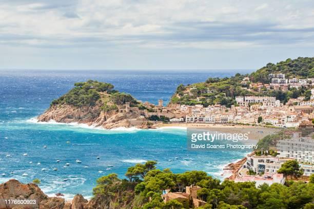 tossa de mar in catalonia, spain - カタルーニャ州 ストックフォトと画像