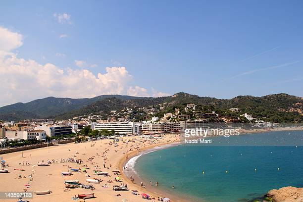tossas beach with sea - nadal stock pictures, royalty-free photos & images
