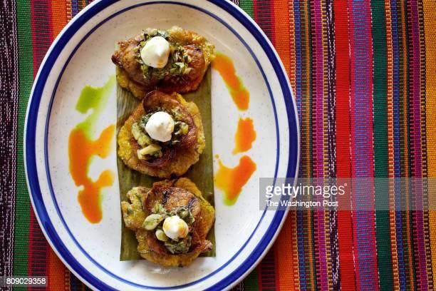 WASHINGTON DC Tostones de Chorizo at La Puerta Verde photographed in Washington DC